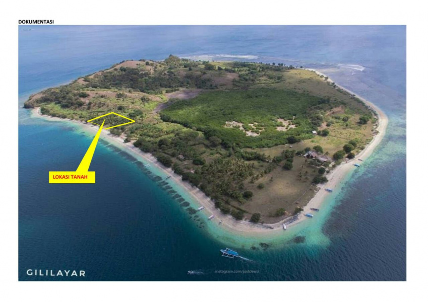 Land for sale on Gili Layar Island, Lombok, 0,5 hectare