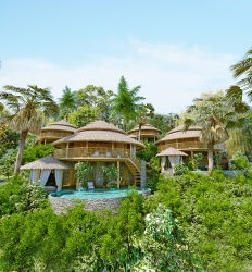 Villas Bukit  Lipah - 3D rendering